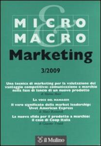 Micro & Macro Marketing (2009). Vol. 3 - copertina