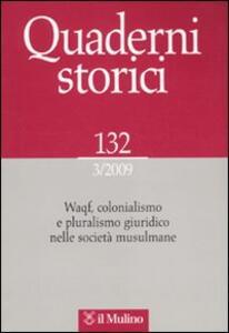 Quaderni storici (2009). Vol. 3 - copertina