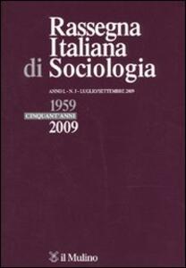 Rassegna italiana di sociologia (2009). Vol. 3 - copertina