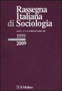 Rassegna italiana di sociologia (2009). Vol. 4 - copertina