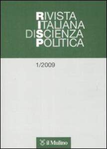 Rivista italiana di scienza politica (2009). Vol. 1 - copertina