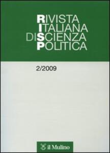 Rivista italiana di scienza politica (2009). Vol. 2 - copertina