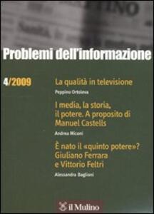 Problemi dell'informazione (2009). Vol. 4 - copertina