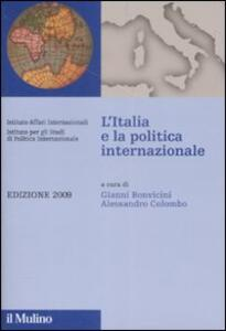 L' Italia e la politica internazionale 2009 - copertina