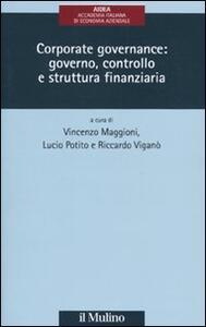 Corporate governance: governo, controllo e struttura finanziaria - copertina