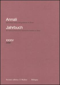 Annali dell'Istituto storico italo-germanico in Trento (2008). Ediz. italiana e tedesca. Vol. 34 - copertina