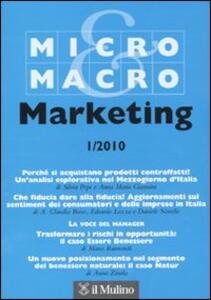 Micro & Macro Marketing (2010). Vol. 1 - copertina