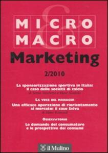 Micro & Macro Marketing (2010). Vol. 2 - copertina