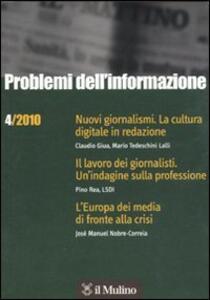 Problemi dell'informazione (2010). Vol. 4 - copertina