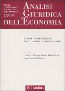 Analisi giuridica dell'economia (2010). Vol. 2: Il rischio d'impresa. Profitti privati e pubbliche perdite.