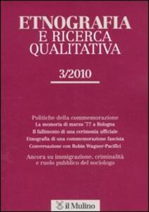 Etnografia e ricerca qualitativa (2010). Vol. 3 - copertina