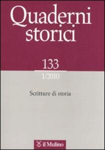 Quaderni storici (2010). Vol. 1 - copertina