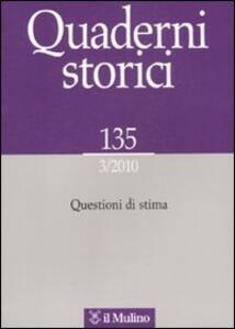 Quaderni storici (2010). Vol. 3 - copertina