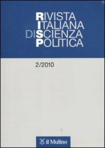 Rivista italiana di scienza politica (2010). Vol. 2 - copertina