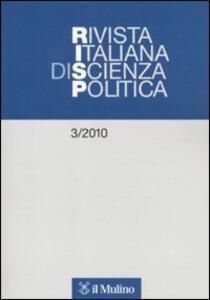 Rivista italiana di scienza politica (2010). Vol. 3 - copertina