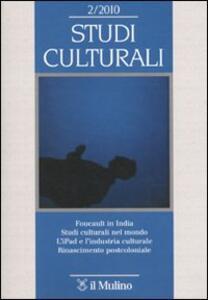 Studi culturali (2010). Vol. 2 - copertina