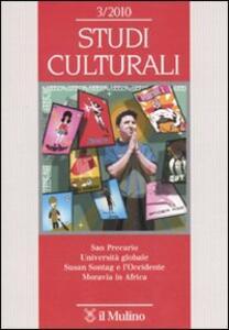 Studi culturali (2010). Vol. 3 - copertina