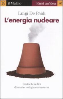 Filippodegasperi.it L' energia nucleare. Costi e benefici di una tecnologia controversa Image
