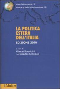 La politica estera italiana (2010) - copertina