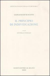 Il principio di individuazione - Giovanni Duns Scoto - copertina