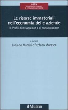 Camfeed.it Le risorse immateriali nell'economia delle aziende. Vol. 2: Profili di misurazione e di comunicazione. Image