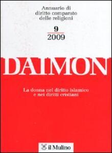 Daimon. Annuario di diritto comparato delle religioni (2009). Vol. 9 - copertina