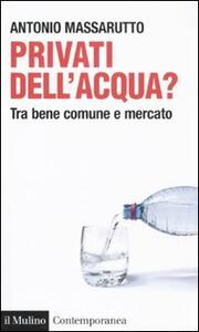 Privati dell'acqua? Tra bene comune e mercato - Antonio Massarutto - copertina