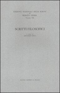 Scritti filosofici - Renato Serra - copertina