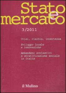 Stato e mercato (2011). Vol. 3 - copertina