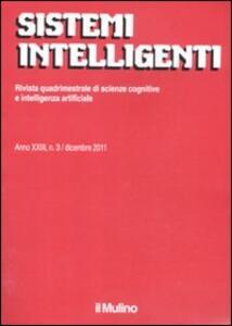 Sistemi intelligenti (2011). Vol. 3 - copertina