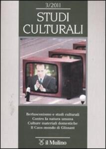 Studi culturali (2011). Vol. 3 - copertina