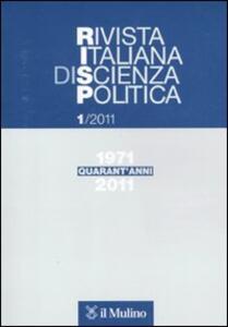 Rivista italiana di scienza politica (2011). Vol. 1 - copertina