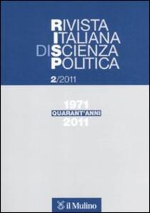 Rivista italiana di scienza politica (2011). Vol. 2 - copertina
