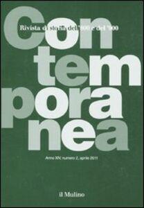 Foto Cover di Contemporanea (2011). Vol. 2, Libro di  edito da Il Mulino