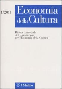 Economia della cultura (2011). Vol. 1 - copertina