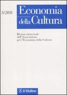 Fondazionesergioperlamusica.it Economia della cultura (2011). Vol. 3 Image