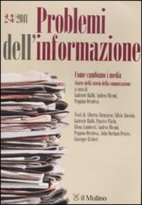 Problemi dell'imformazione (2011) vol. 2-3. Vol. 2 - copertina