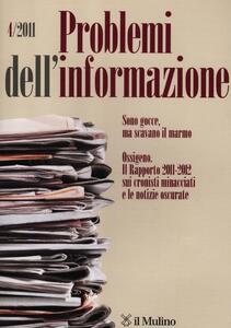 Problemi dell'informazione (2011). Vol. 4 - copertina