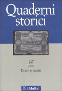 Quaderni storici (2011). Vol. 2 - copertina