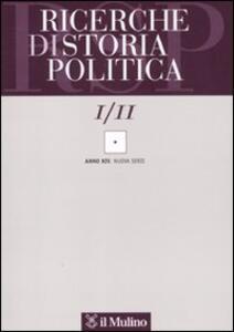 Ricerche di storia politica (2011). Vol. 1 - copertina