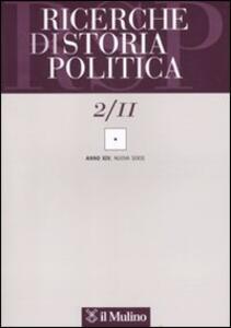 Ricerche di storia politica (2011). Vol. 2 - copertina