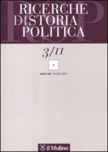 Ricerche di storia politica (2011). Vol. 3 - copertina