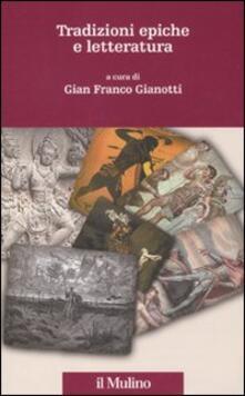 Tradizioni epiche e letteratura - copertina