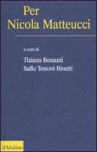 Per Nicola Metteucci - copertina