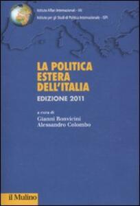 La politica estera dell'Italia 2011 - copertina