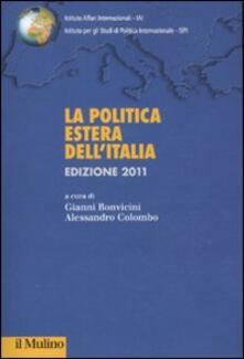 Ristorantezintonio.it La politica estera dell'Italia 2011 Image