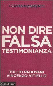 Foto Cover di I comandamenti. Non dire falsa testimonianza, Libro di Tullio Padovani,Vincenzo Vitiello, edito da Il Mulino