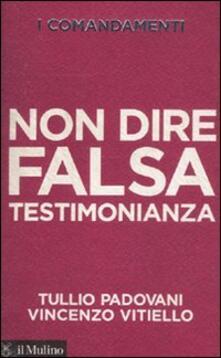 I comandamenti. Non dire falsa testimonianza - Tullio Padovani,Vincenzo Vitiello - copertina