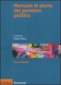 Manuale di storia del pensiero politico - copertina