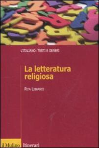 La letteratura religiosa - Rita Librandi - copertina